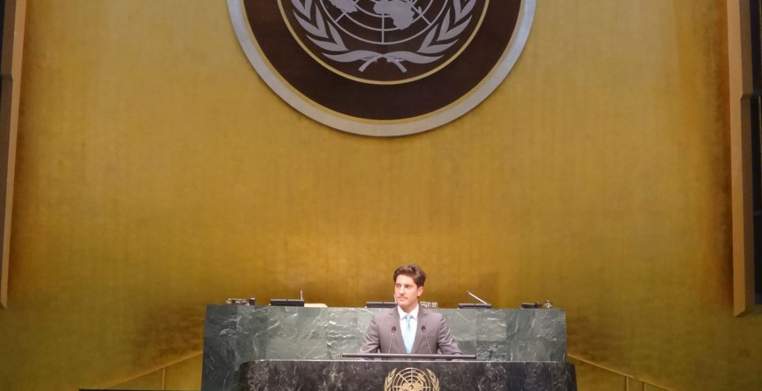 Nico at the United Nations Headquarters
